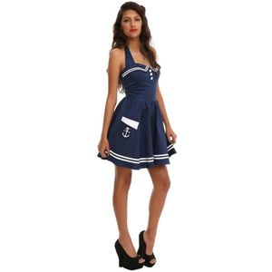 Hell Bunny Navy Motley sailor dress pinup NWT sz M
